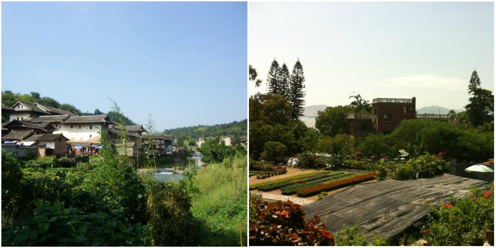The tulou village and Gulangyu.