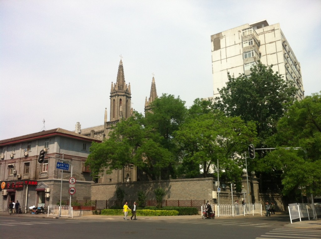 St. Michael's Church, near the former foreign legations, where the expats used to live.